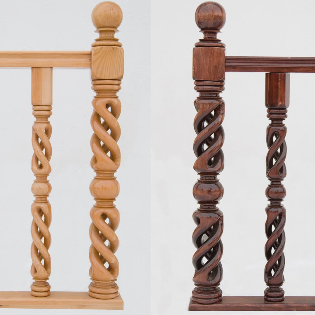 Spiral Newel with Middle Globe SNMG