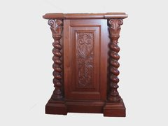 Solid Wood Sculpted Classic Commode