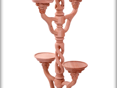 Solid Wood Spiral Flower Stand